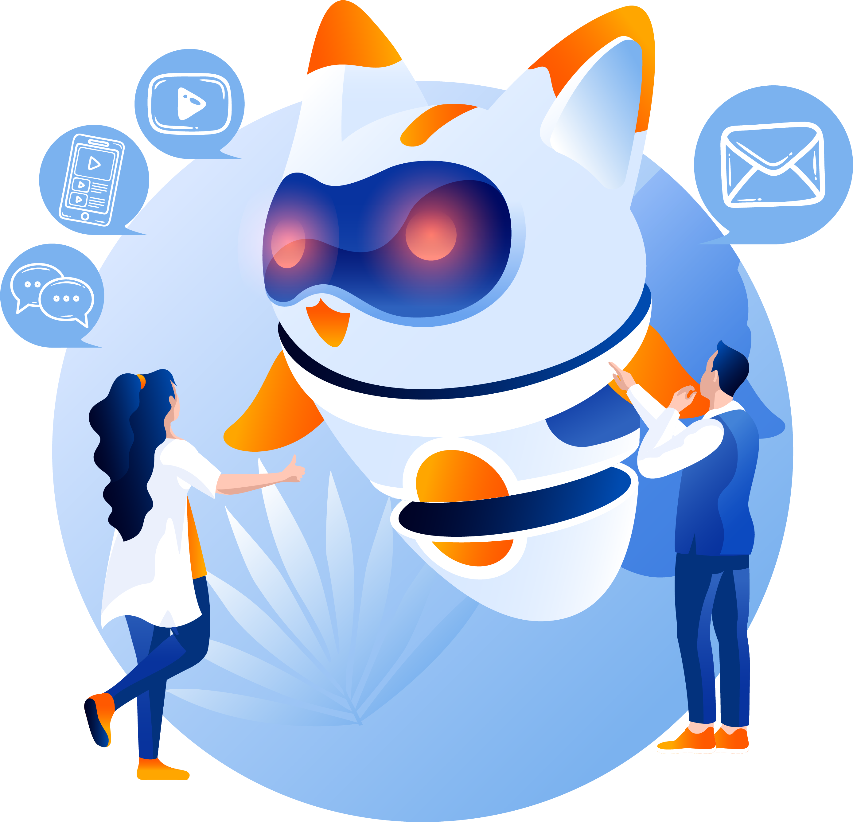Chat bot CRM Digital online Marketing